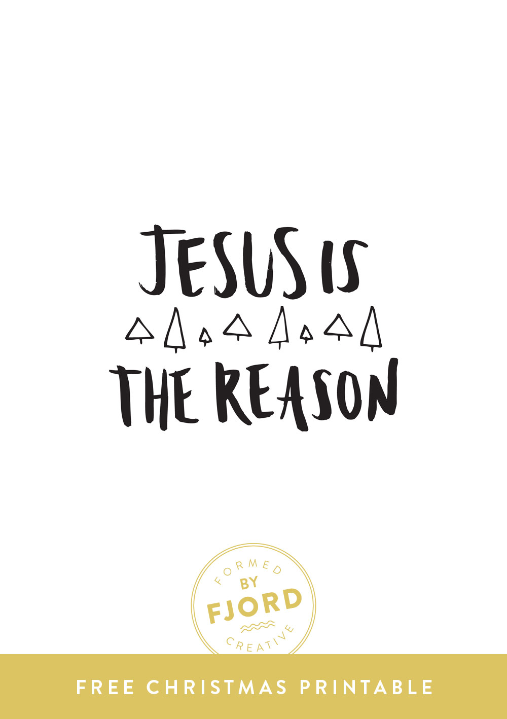 Free Christmas Printable by Fjord Creative // Jesus is the Reason