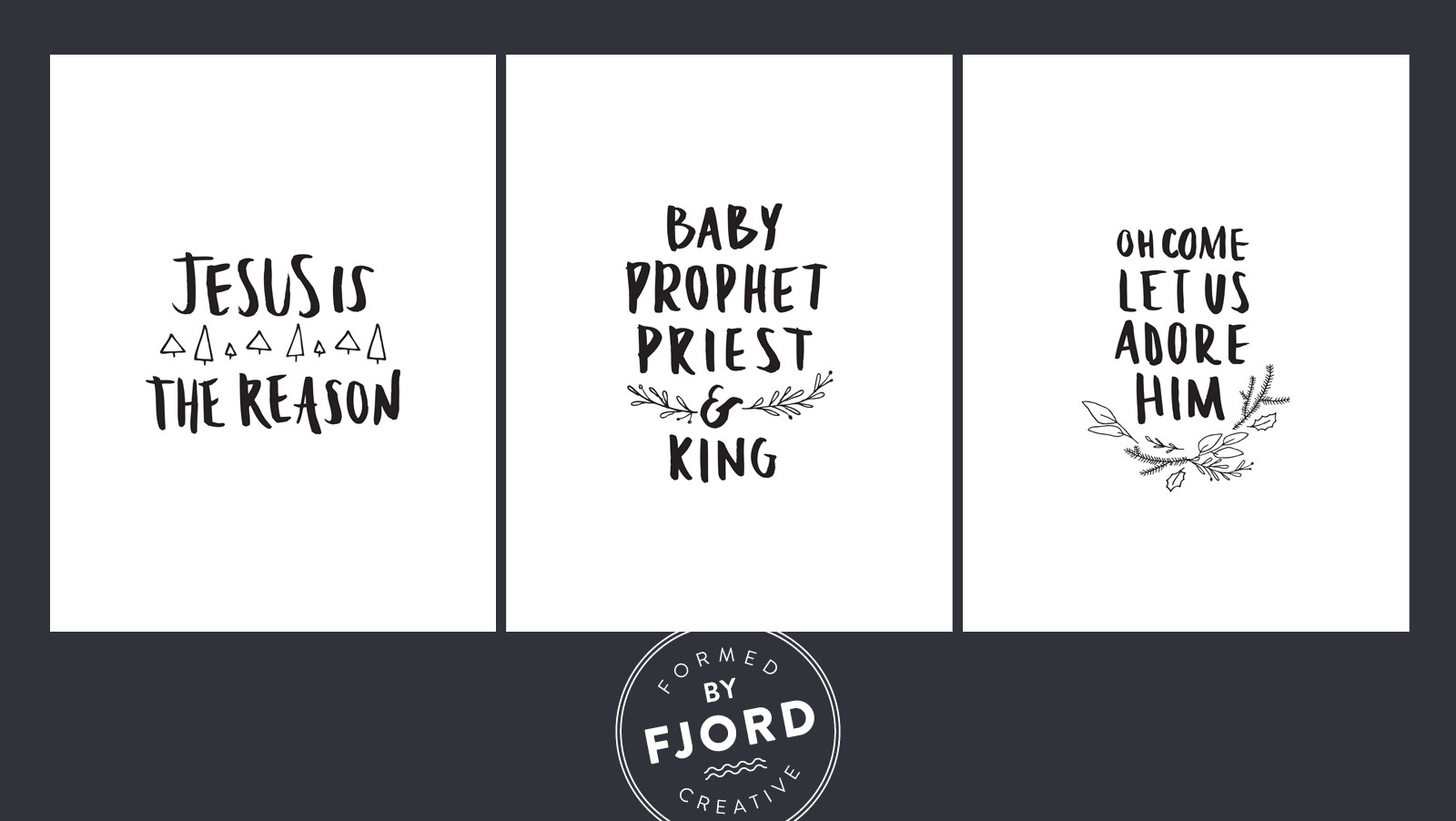 Free Christmas Printables by Fjord Creative